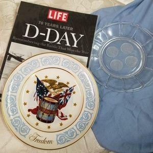 Time Life Avon and coin glass plate